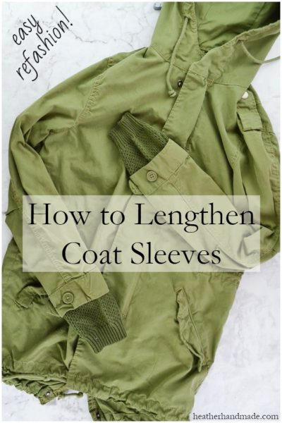 How to Lengthen Jacket Sleeves // heatherhandmade.com