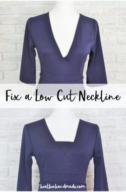 fix a low cut neckline
