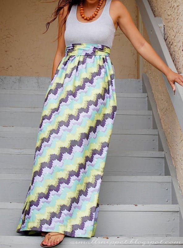 Add A Skirt To A Shirt Maxi Tutorial