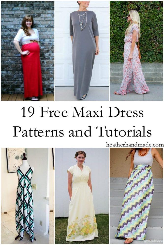 19 Free Maxi Dress Patterns // heatherhandmade.com