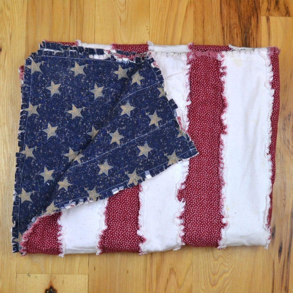 folded flag rag quilt