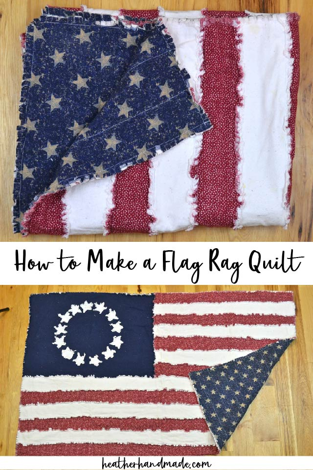 How to Make a Flag Rag Quilt