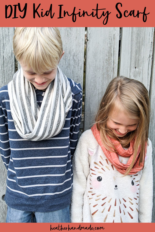 DIY kid infinity scarf