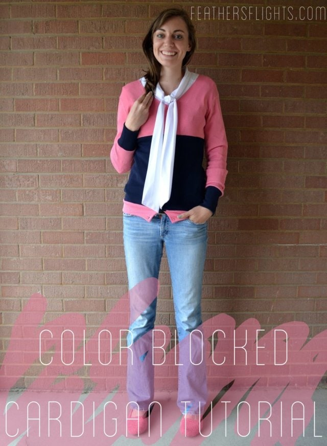 Color Blocked Cardigan Refashion Tutorial