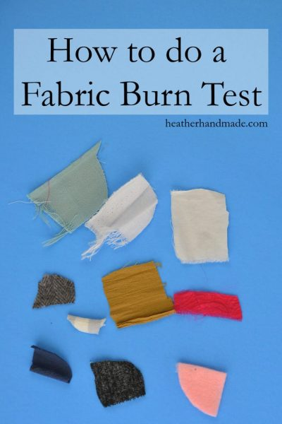 How to Do a Fabric Burn Test // heatherhandmade.com
