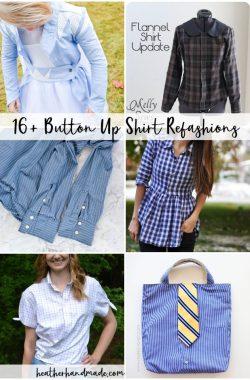 button up shirt refashion