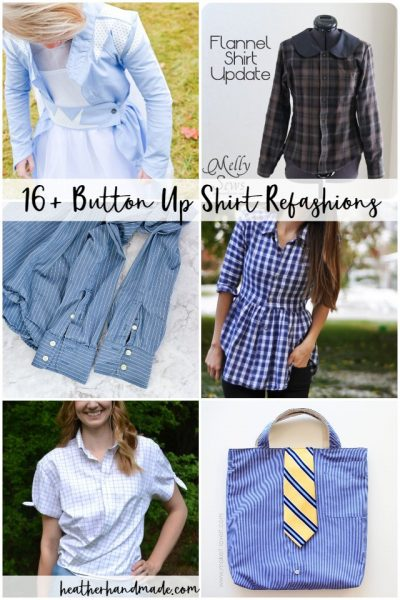 button up shirt refashion