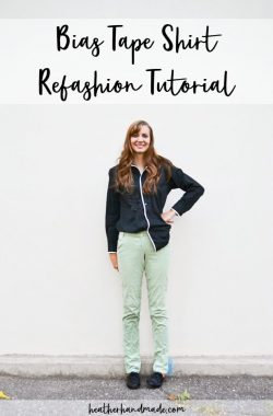 bias tape shirt refashion