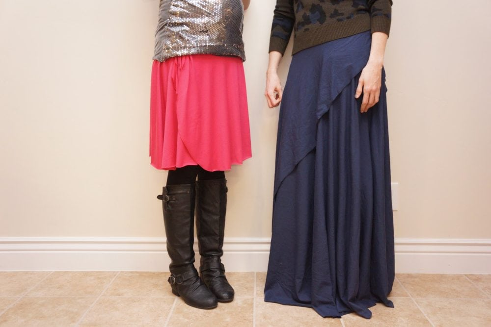 Adjustable One-Seam Wrap Skirt Tutorial // heatherhandmade.com