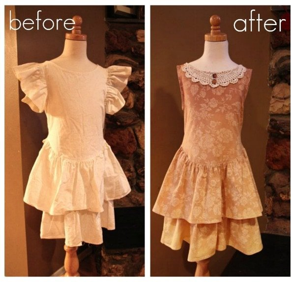 Ombre Girl's Dress Refashion Tutorial