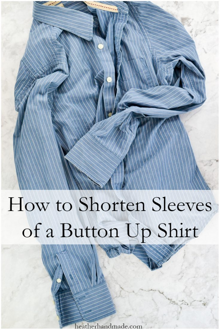 How to Shorten Sleeves of a Button Up Shirt