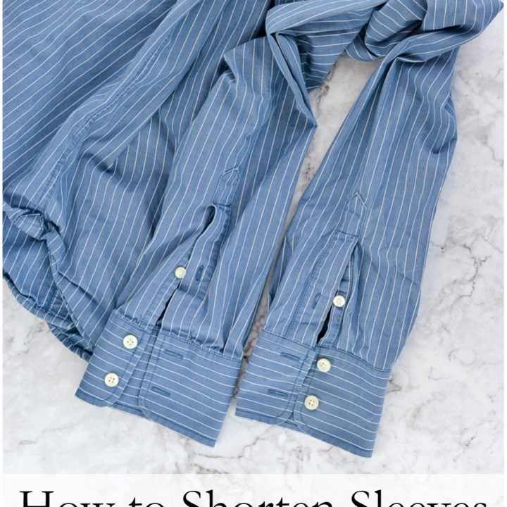 How to Shorten Sleeves