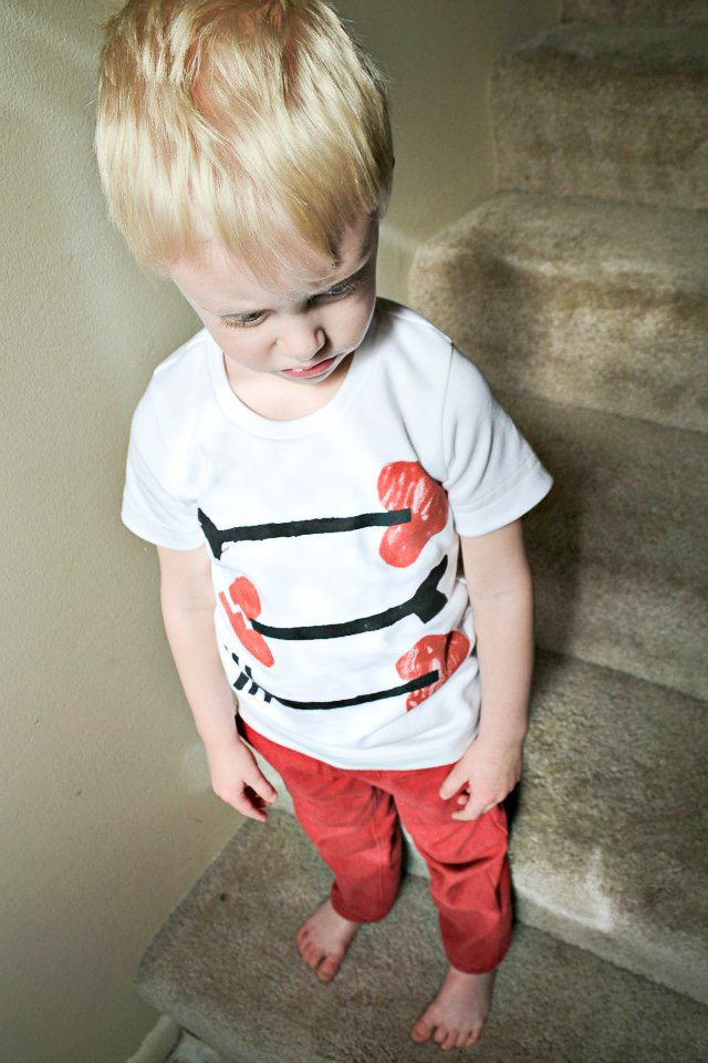 easy diy valentine t-shirt
