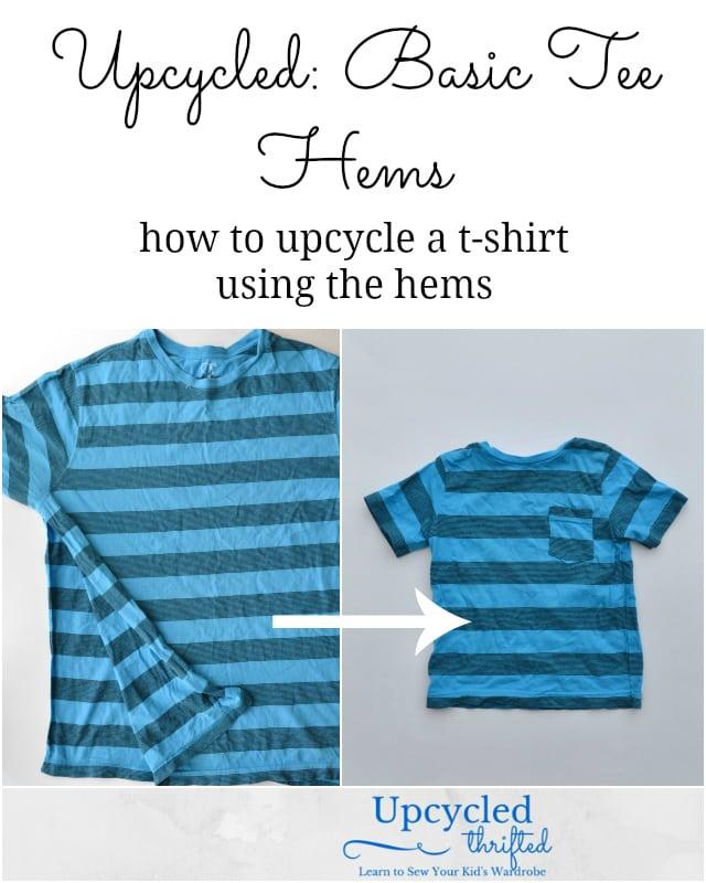 How to Upcycle Basic Tee Hems