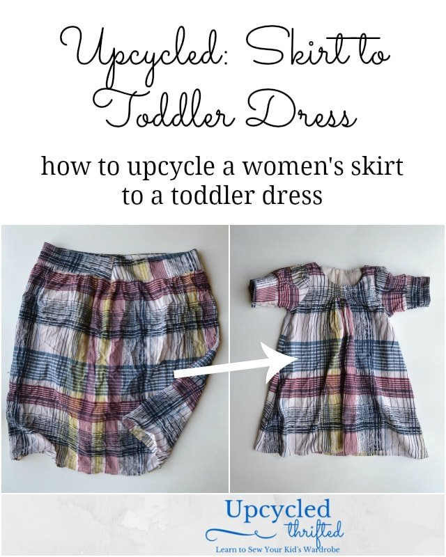 Upcycled: Skirt to Toddler Dress