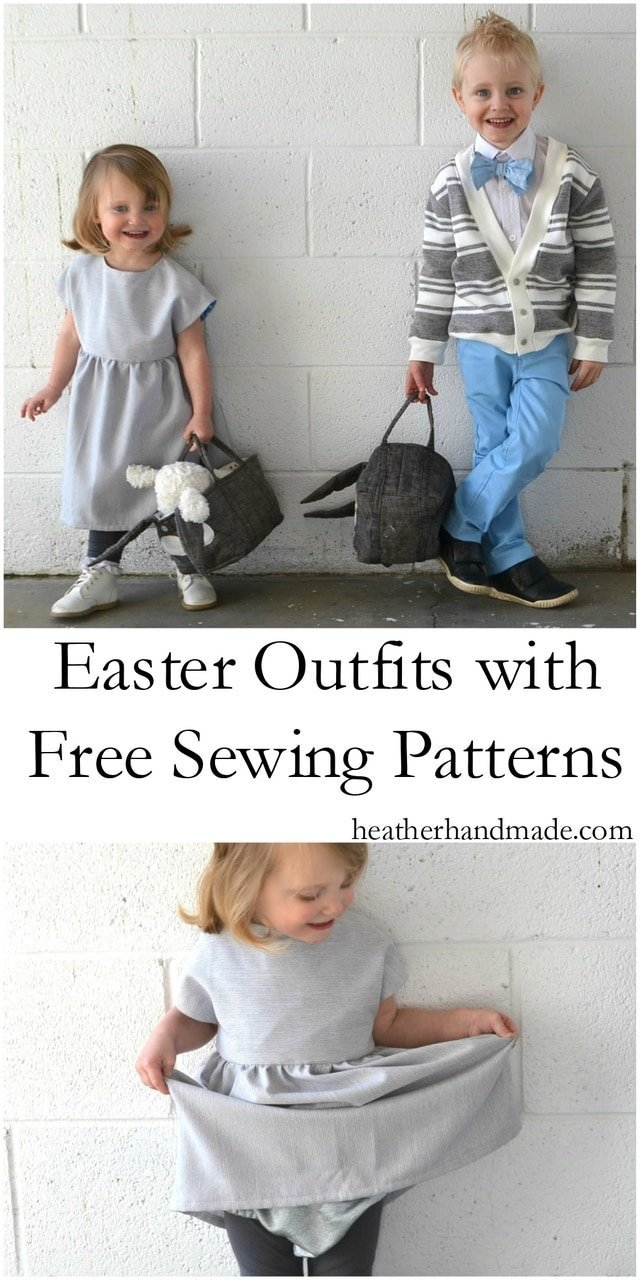 Children's Easter Outfits from Free Sewing Patterns // heatherhandmade.com