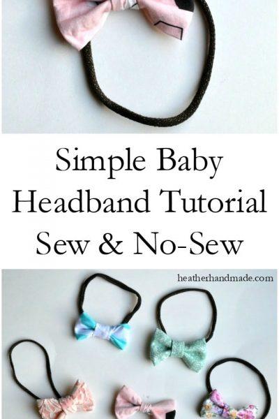 Baby Headband Tutorial // heatherhandmade.com