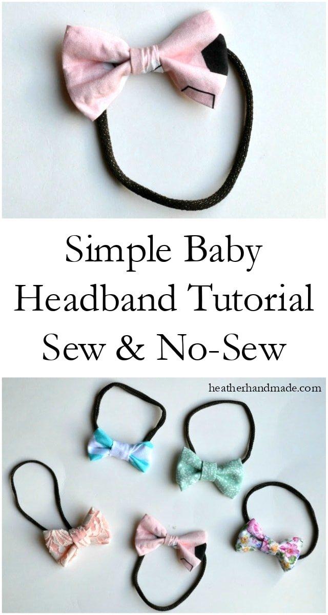Simple Baby Headband Tutorial