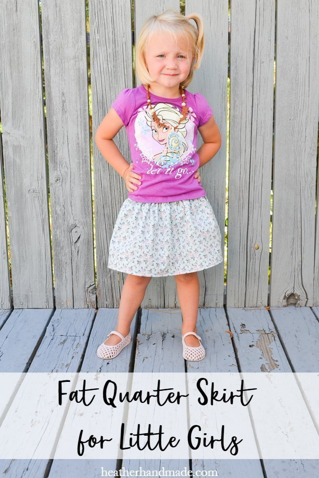 DIY Fat Quarter Skirt for Little Girls