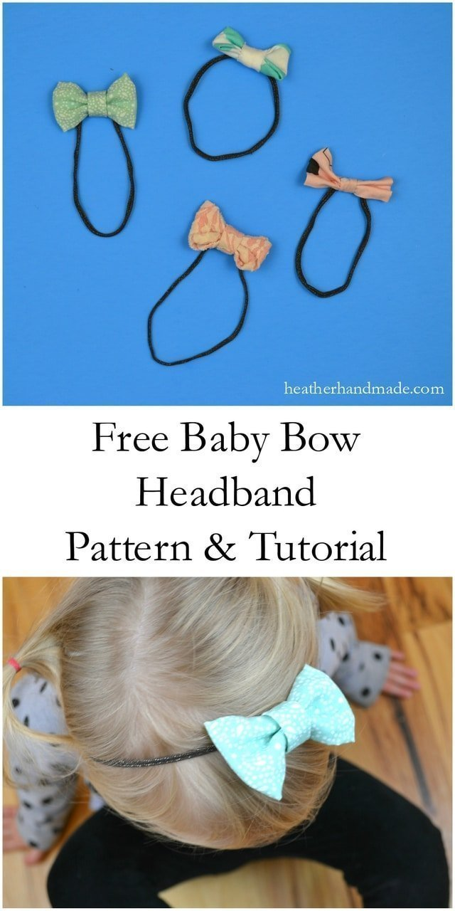 TUTORIAL: Simple Baby Headbands // Sewn and No-Sew