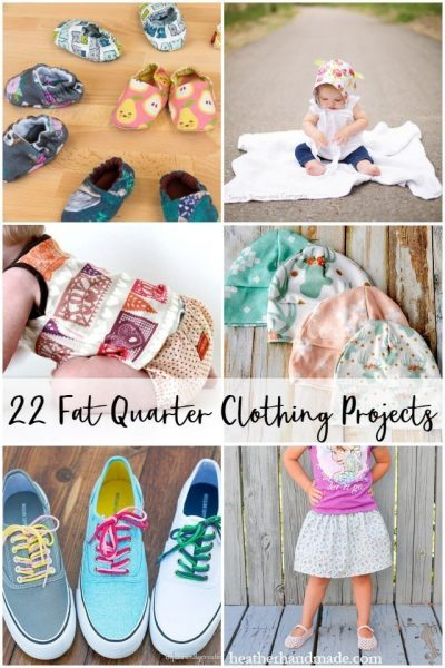 fat quarter clothing projects