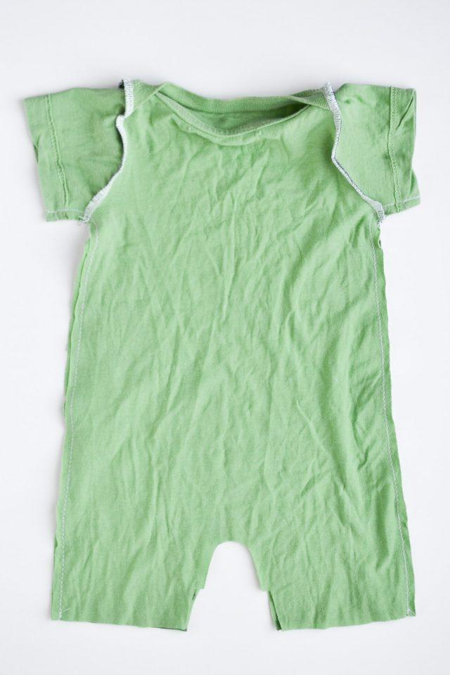 make t-shirt into romper