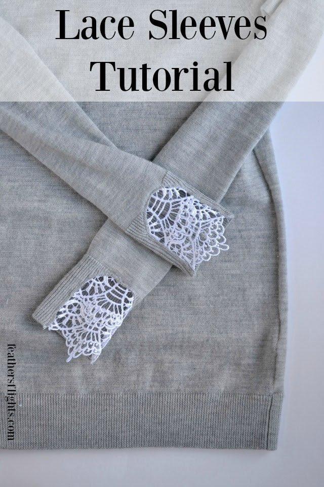 DIY Lace Sweater Tutorial
