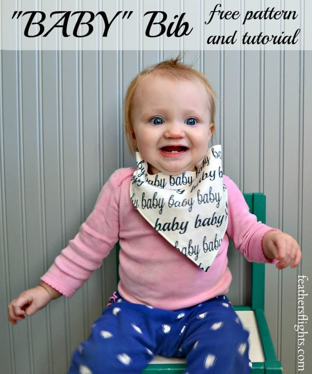 Snap Tape Bib: Free Pattern and Tutorial