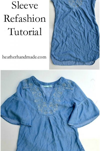 Bell Sleeve Refashion Tutorial // heatherhandmade.com