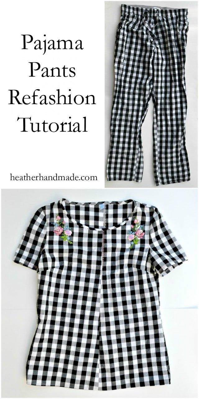 Pajama Pants Refashion Tutorial // heatherhandmade.com