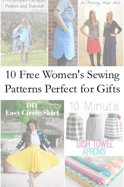 10 Free Women's Sewing Patterns Perfect for Gifts