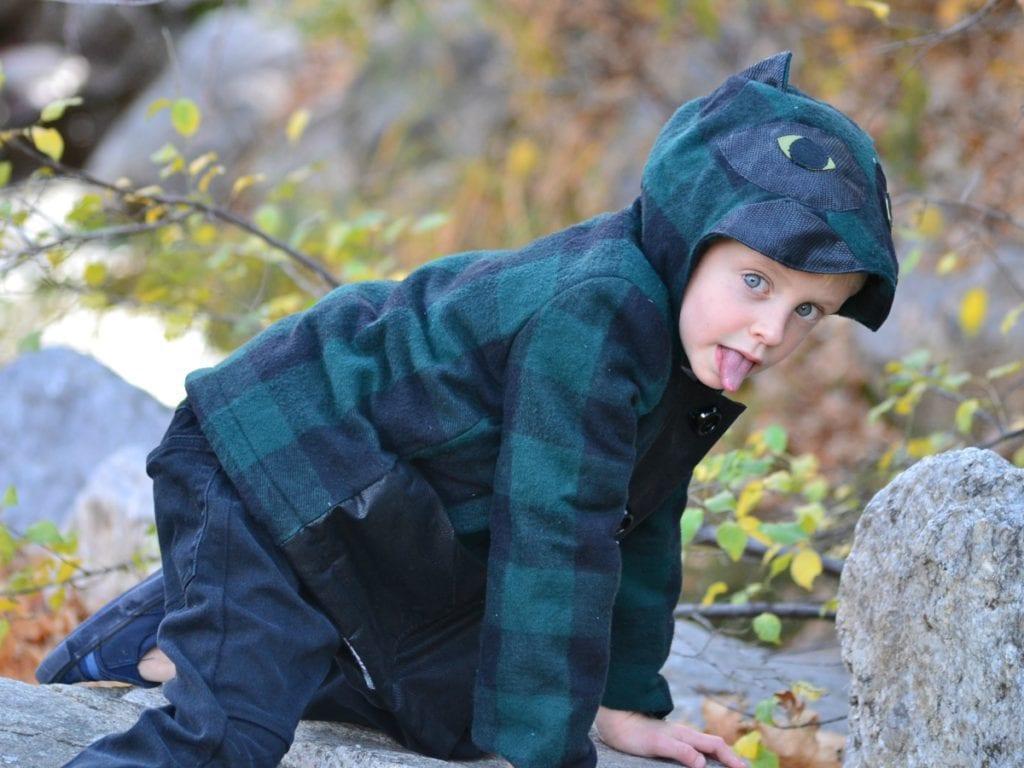 Boy Sewing: Boy Lizard Coat