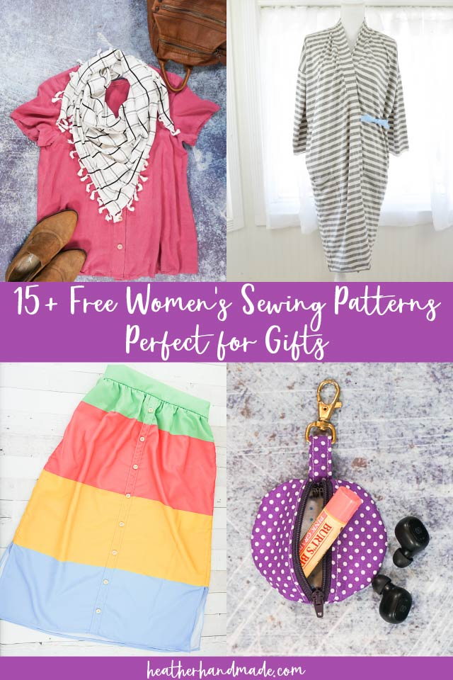 free women's sewing patterns perfect for gifts
