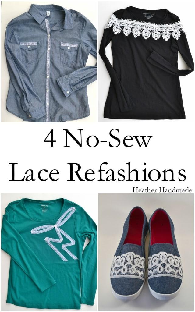 4 No-Sew Lace Refashion Tutorials