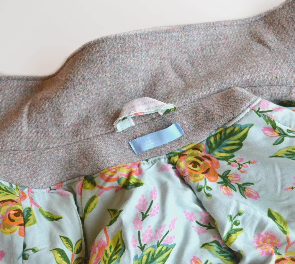 Harris Tweed Wool Clare Coat // heatherhandmade.com