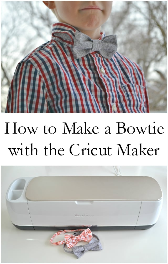 How to Make a Bowtie with the Cricut Maker