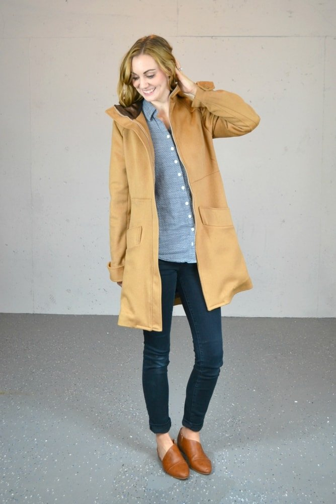 Refashioned Coat with the Pepernoot Coat Pattern