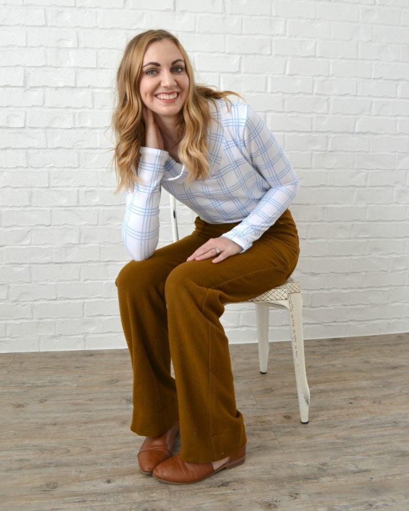 Wool Lander Pants and a Plaid Halifax Hoodie // heatherhandmade.com