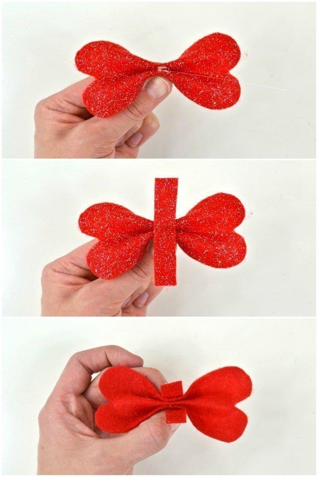 Heart Bow Tutorial nad Free Pattern // heatherhandmade.com