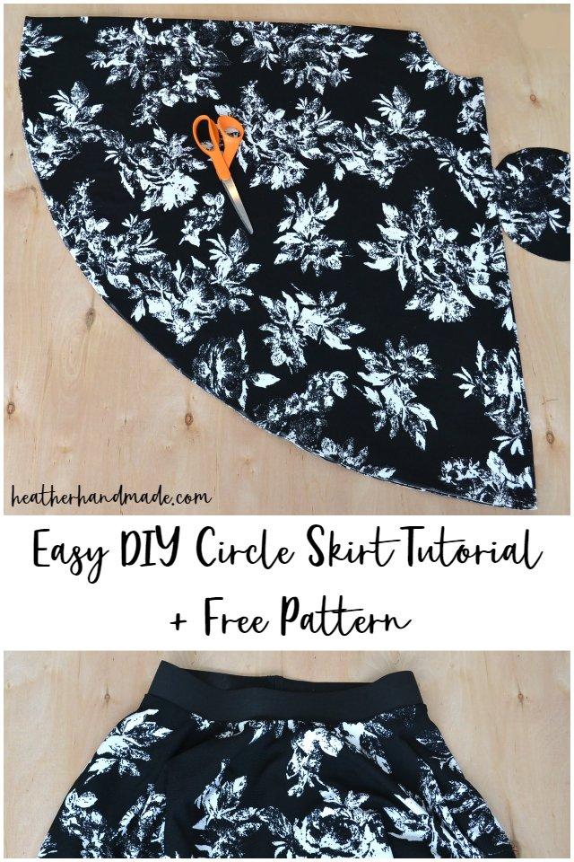 easy diy circle skirt free pattern