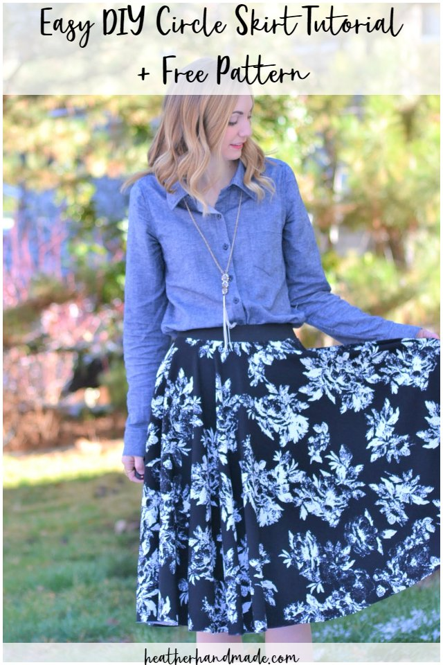 easy diy circle skirt tutorial
