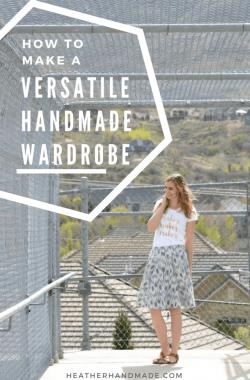 How to Make a Versatile Handmade Wardrobe + Free Printable // heatherhandmade.com