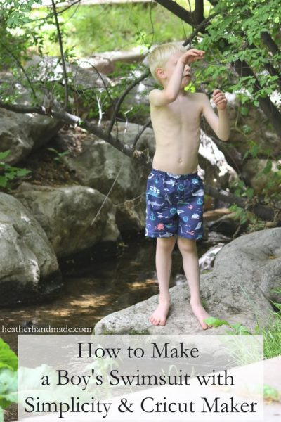 How to Make a Boy's Swimsuit with Simplicity + the Cricut Maker // heatherhandmade.com