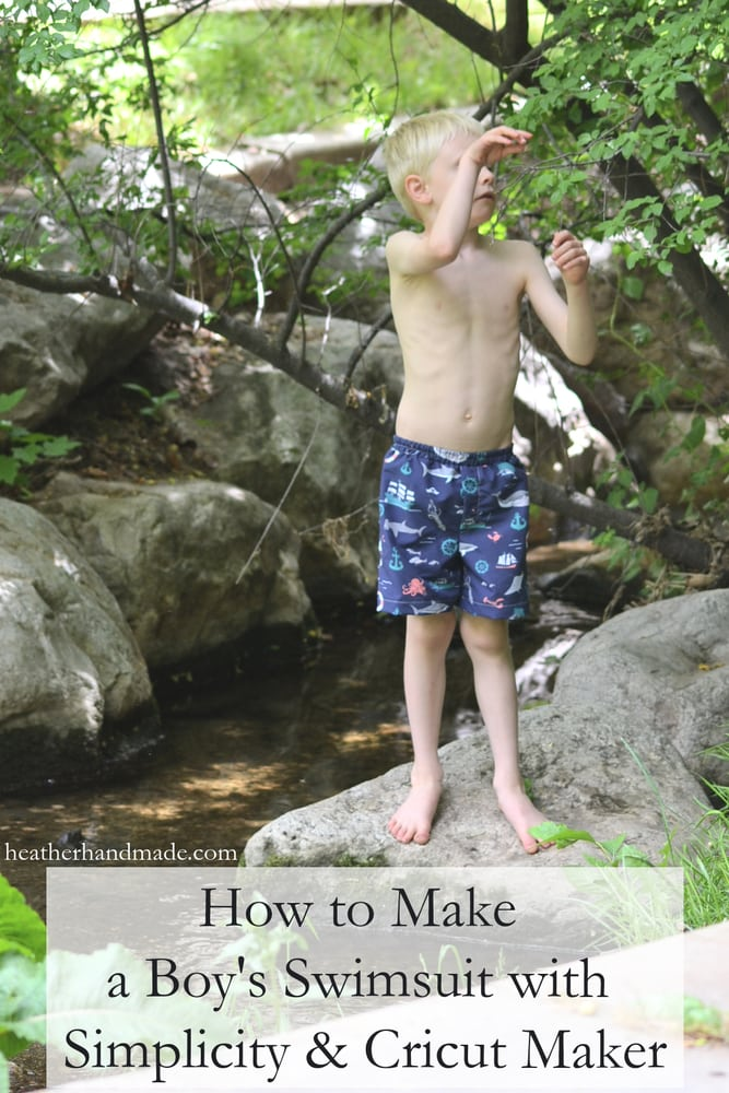 How to Make a Boy's Swimsuit with Simplicity + Cricut