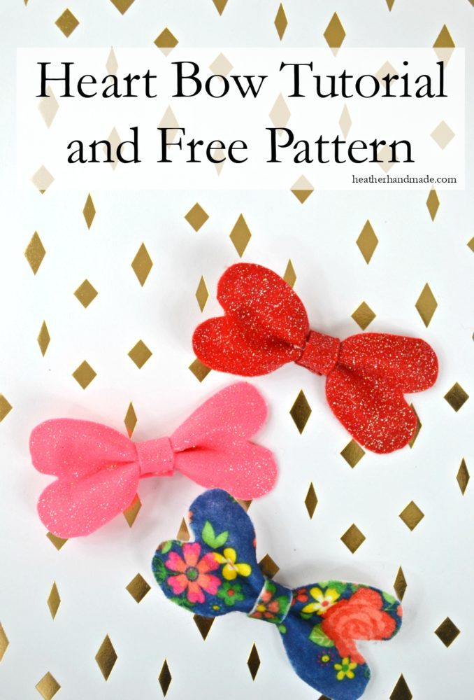 Heart Bow Tutorial and Free Pattern