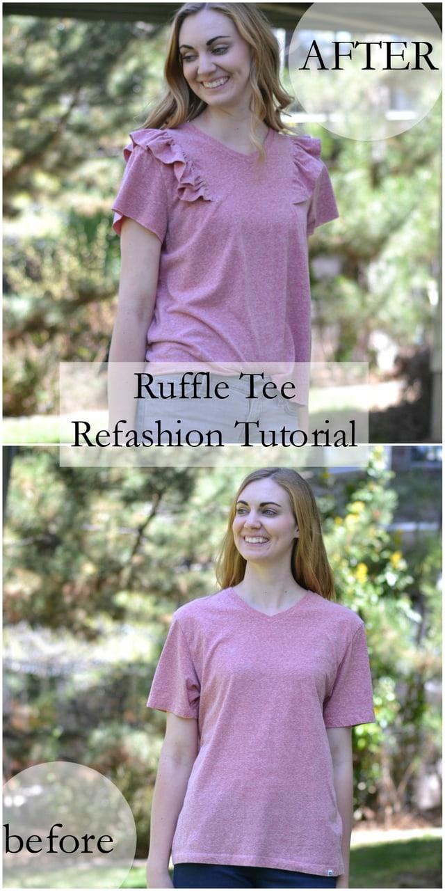 Ruffle Tee Refashion Tutorial // heatherhandmade.com