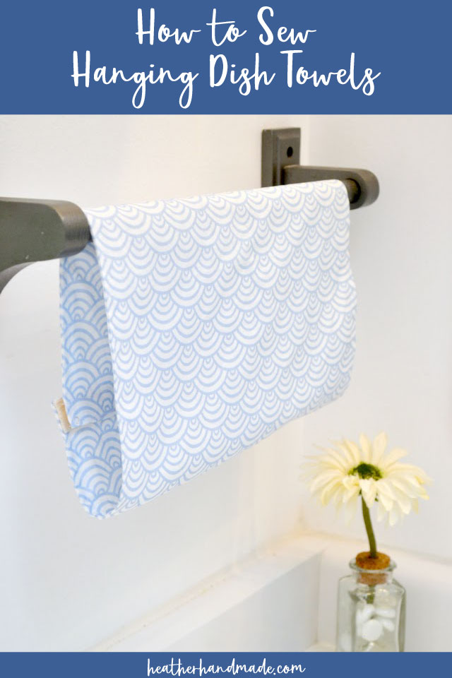 how to sew hanging dish towel