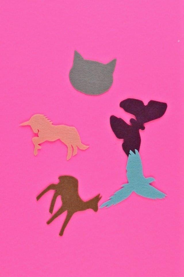 Animal Hairclips + Free Pattern // heatherhandmade.com