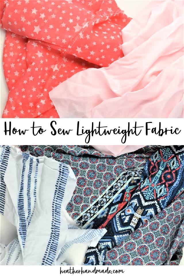 how to sew lightweight fabric