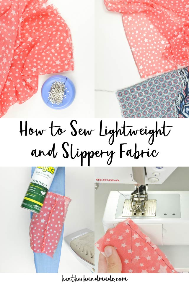 how to sew slippery fabric